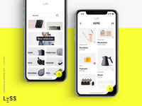 LESS · curated shopping app (concept) 1/4