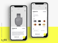 LESS · curated shopping app (concept) 3/4