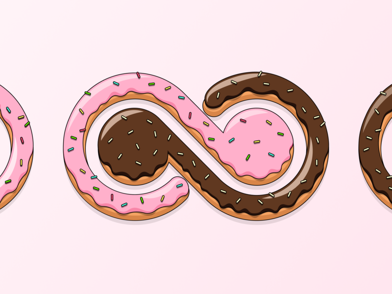 A sweet Bending Spoons' logo identity brand branding chocolate wearebendingspoons bendingspoons food sugar love donut sweet graphic  design logo illustration