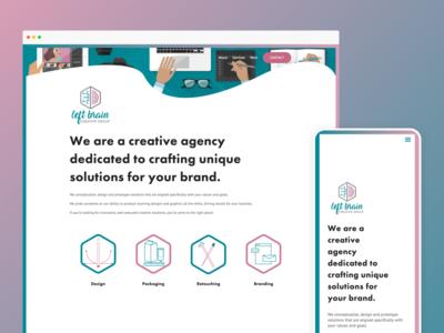 Left Brain Creative – Website design