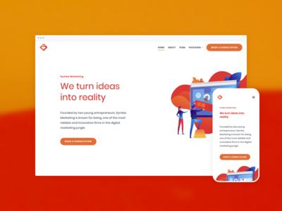 Symba Marketing – Website design