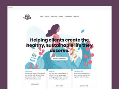 The Well – Website design