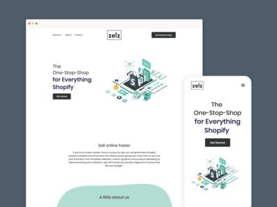 Zelz – Website design