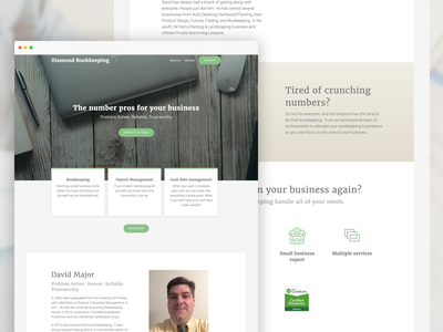 Diamond Bookkeeping website design website web design typography simple illustration website design ai web design