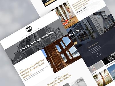 Showcase Home Builders website design clean ai website web design website typography simple website design ai web design