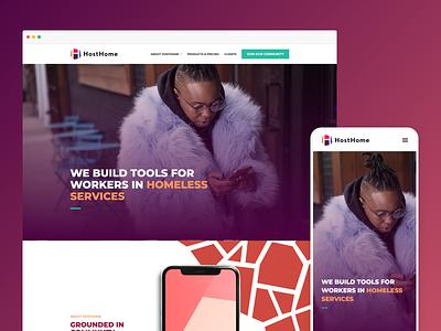 HostHome website design ai website web design website design website typography simple clean ai web design