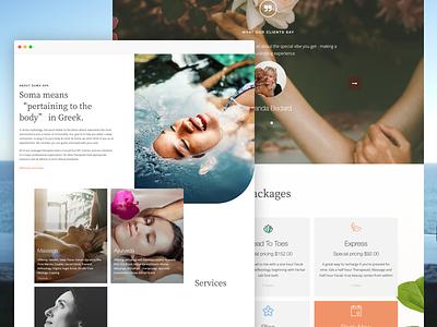 Soma Spa website design ai website website design typography simple web design clean ai web design