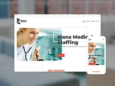 Mana Medical website design ai website web design website website design typography simple clean ai web design