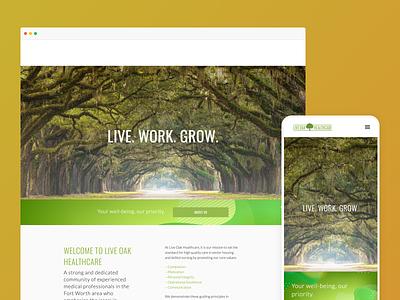 Live Oak website design clean ai website website typography simple web design website design ai web design