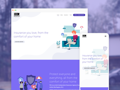 Broadway Insurance website design ai website illustration typography clean simple hero section website design ai web design