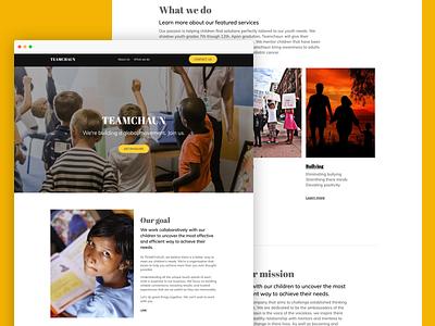 Team Chaun website design ai website website design website typography simple hero section design web design clean ai web design