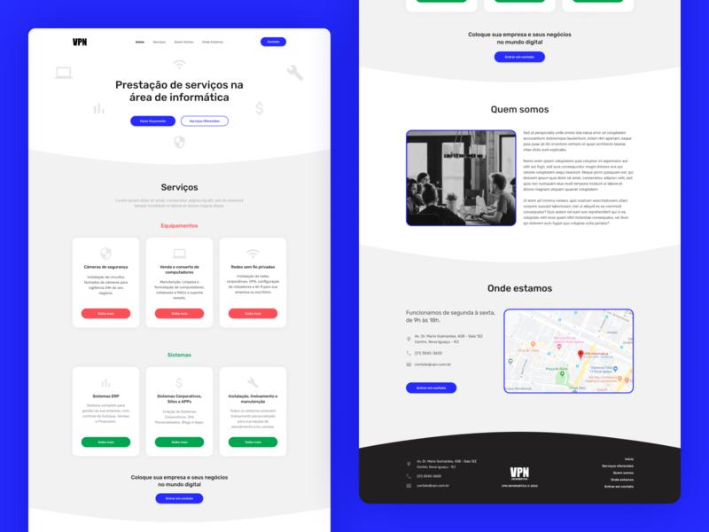 VPN Landing Page design blue figma ui design ui landing page