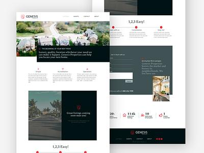 Genesis Properties icon typography ui branding logo design website