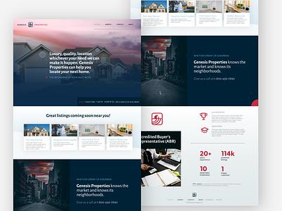 Genesis Properties Branding Variation ui typography logo icon design website branding