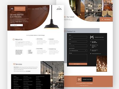 Modern Electric Variation Design ui website typography logo icon design branding