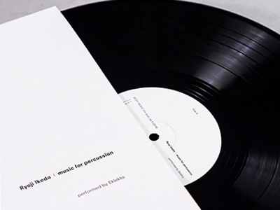 Sleeve Design for Ryoji Ikeda vinyl