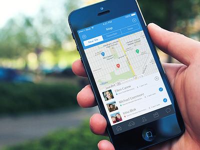 Carpooling App iphone ios7