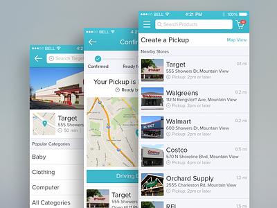 Curbside App curbside ios7 app iphone mobile