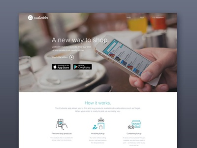 Curbside Landing Page curbside landing app ios iphone shopping