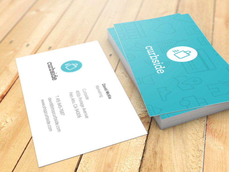 Curbside Business Cards curbside app ios iphone shopping business card indentity brand pattern seamless