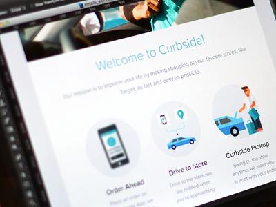Welcome  visual design email responsive mobile illustartion