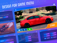Design for game menu - gui