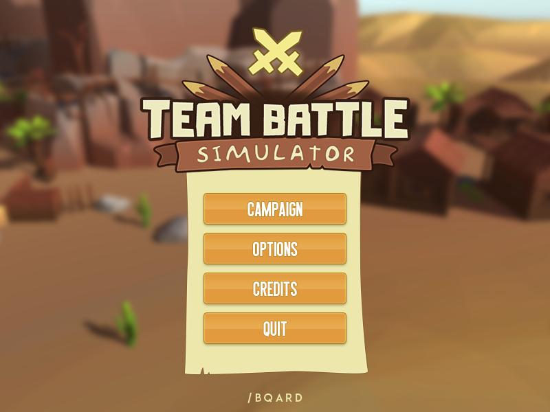 Game design concept «Team Battle Simulator» mobile mobile ui interface illustration game logo logo design logotype logo menu game ui game menu simulator gui desigh game design game