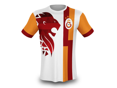 Galatasaray Tshirt Design football lion sport design tshirt galatasaray