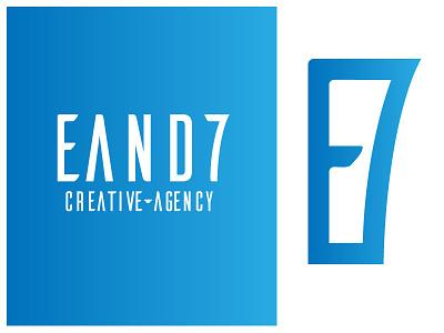 E&7 Logo Design letter blue logotype brand logo