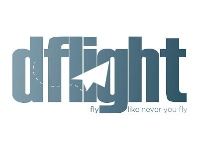 Dflight branding logotype icon logo