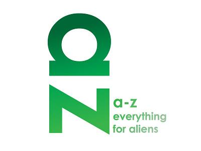 A-Z Alien Market Logo logotype brand logo