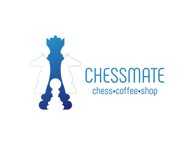 ChessMate Coffee Shop Logo Design chess design branding logo