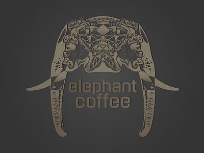 Elephant Coffee Shop design branding logo coffee elephant