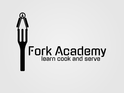 Fork Academy Logo Design academy fork design branding logo