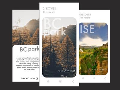 Trekking App trekking app design sketch ux ui