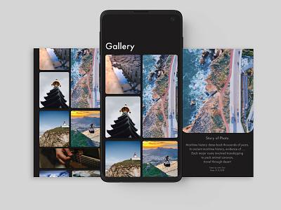 Gallery App xd sketch invision app design photo gallery story