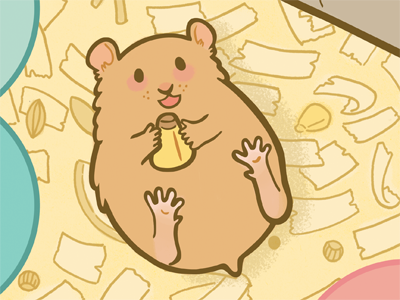 Hamsters! illustration hamster rodent cute