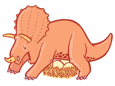 Online Security for Wufoo illustration dinosaur triceratops wufoo character branding online security security