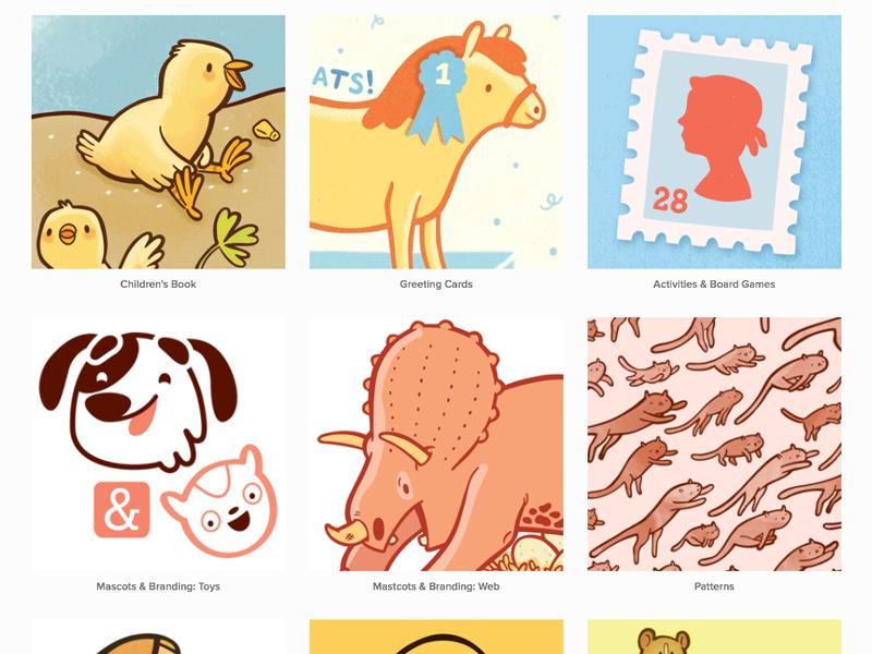 New Site! portfolio illustration squarespace