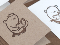 Bibliobears Letterpress Mini Cards
