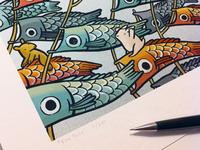 Fish Socks Print