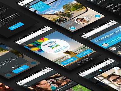 Transition Lense Viewer web app app design ui