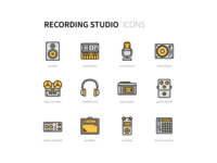 Recording Studio Icons