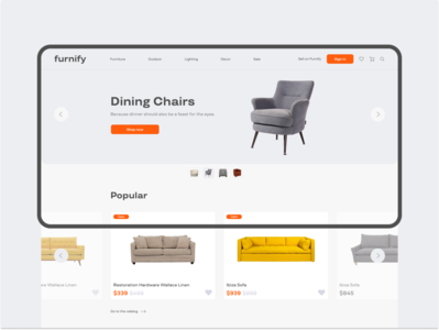 Furniture — concept e-commerce