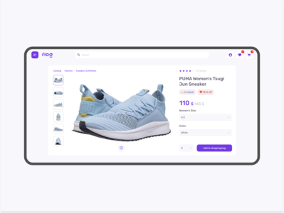 Flog — concept shopping cart clean minimalist ecommerce marketplace
