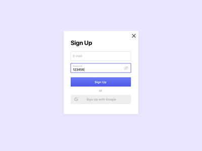 Sign Up Form for Daily UI