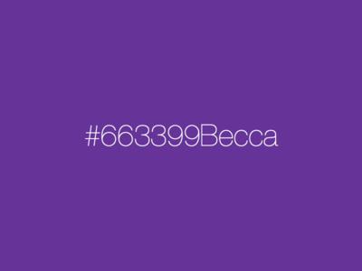 #663399Becca