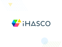 The new iHASCO typography logo hicksdesign branding identity ihasco