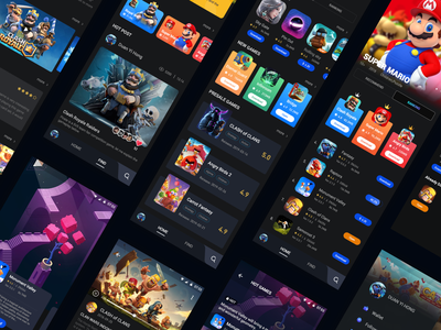 AXE丨Game Platform game platform design app game ui
