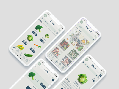 Grocery App Concept mobile app ios produce shopping grocery ux ui